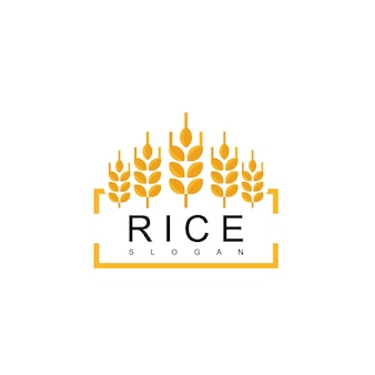 Logotipo do emblema de arroz