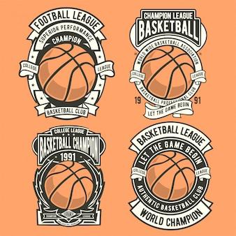 Logotipo do emblema de basquete