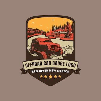 Logotipo do emblema de carro offroad