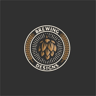 Logotipo do emblema de cerveja