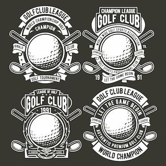 Logotipo do emblema de golfe