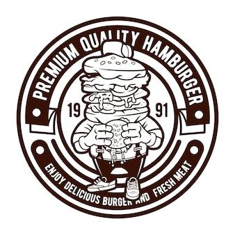 Logotipo do emblema de hambúrguer