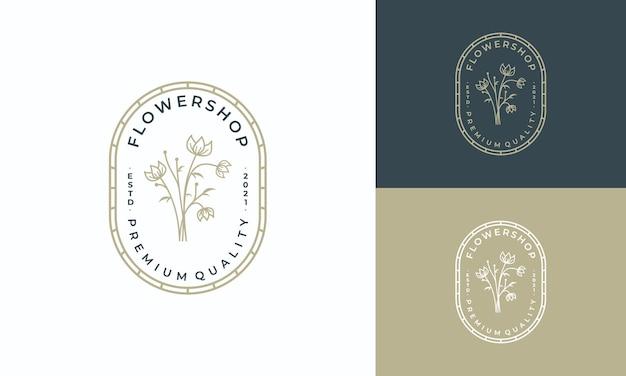 Logotipo do emblema de luxo para marca de cosméticos para salão de beleza