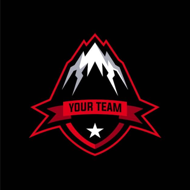 Logotipo do emblema de montanha
