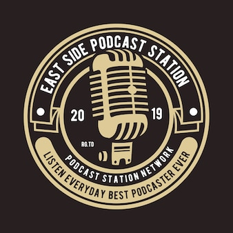 Logotipo do emblema de podcast