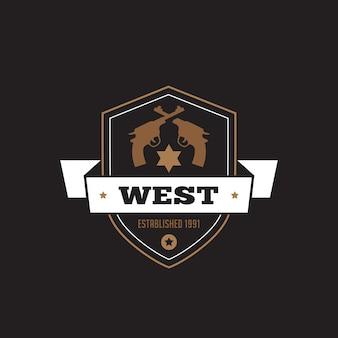 Logotipo do emblema de rótulo vintage.