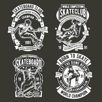 Logotipo do emblema de skatista