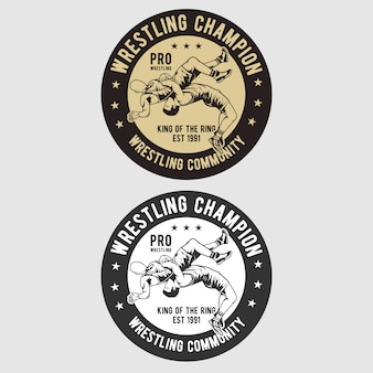 Logotipo do emblema de wrestling
