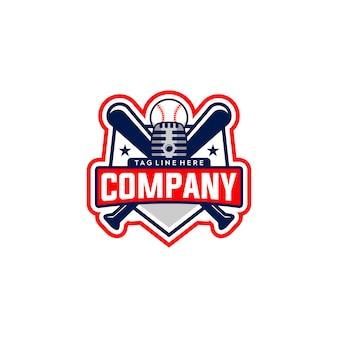 Logotipo do emblema do basebol