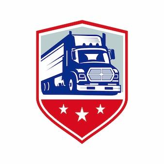 Logotipo do emblema do caminhão