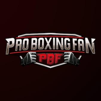 Logotipo do emblema do esporte profissional de boxe