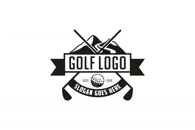 Logotipo do emblema do golfe vintage