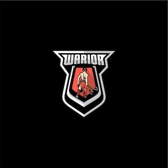 Logotipo do emblema do guerreiro