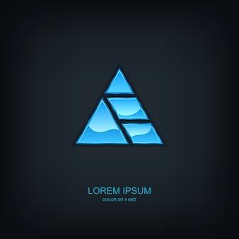 Logotipo do emblema do modelo abstrato de negócios, ideia universal de tecnologia de negócios