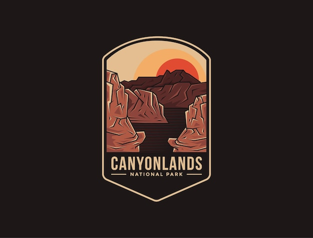 Logotipo do emblema do parque nacional de canyonlands