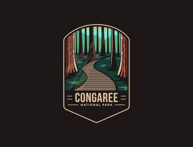 Logotipo do emblema do parque nacional de congaree