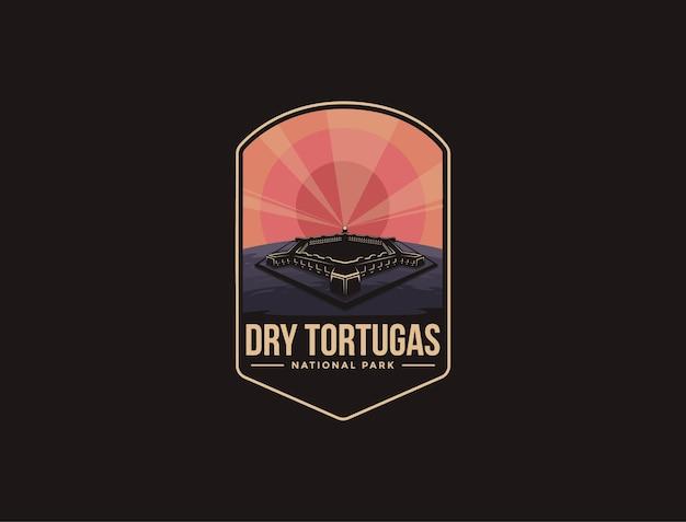 Logotipo do emblema do patch do parque nacional de dry tortugas