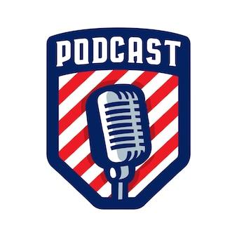 Logotipo do emblema do podcast