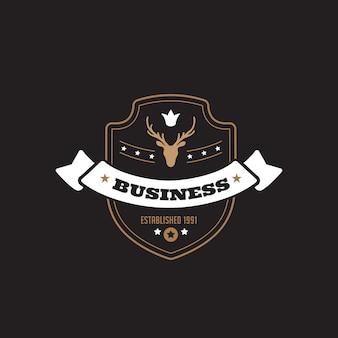 Logotipo do emblema vintage