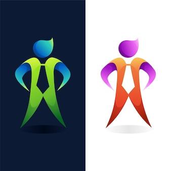 Logotipo do empresário com conceito de cor gradiente