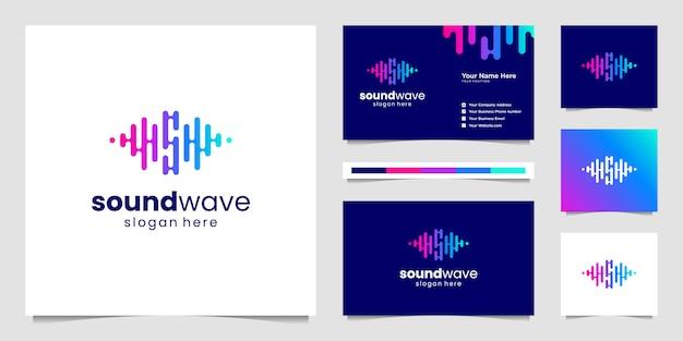 Logotipo do equalizador de música.