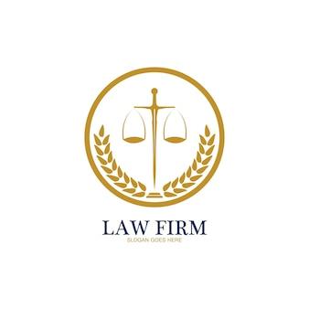 Logotipo do escritório de advocacia e vetor de modelo de design de ícone