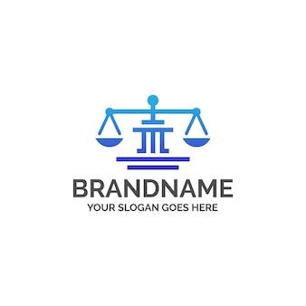 Logotipo do escritório de advocacia legal justice