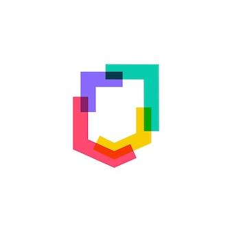Logotipo do escudo colorido