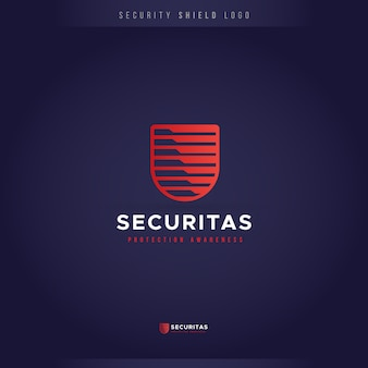 Logotipo do escudo de crachá de segurança