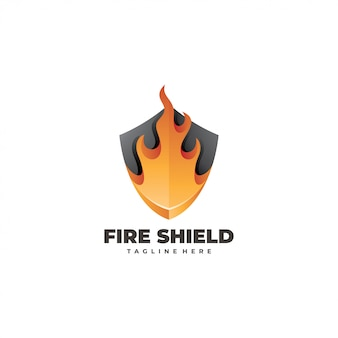 Logotipo do escudo de fogo