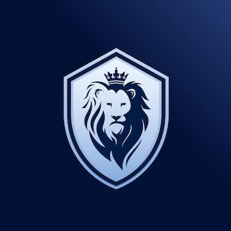 Logotipo do escudo de leão