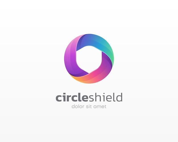 Logotipo do escudo do círculo