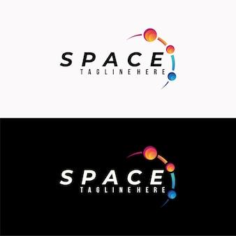 Logotipo do espaço colorido isolado