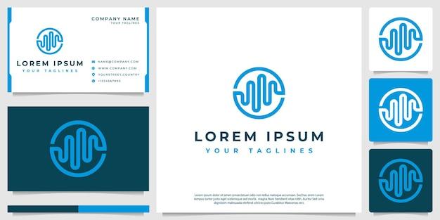 Logotipo do espectro musical, com estilo minimalista