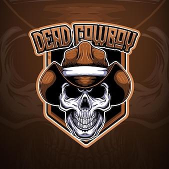 Logotipo do esport com cowboy morto