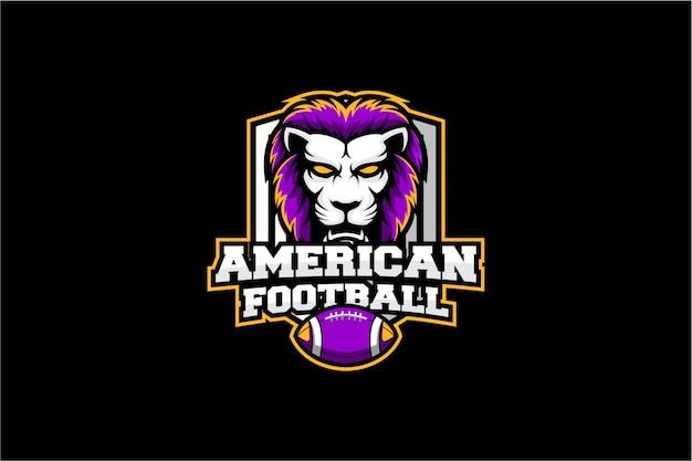 Logotipo do esporte cabeça de leão