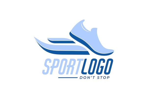 Logotipo do esporte com tênis Vetor grátis