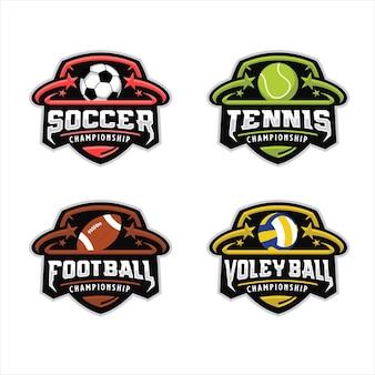 Logotipo do esporte da bola