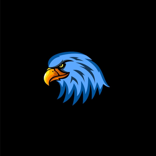 Logotipo do esporte da cabeça da águia