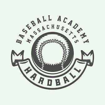 Logotipo do esporte de beisebol vintage