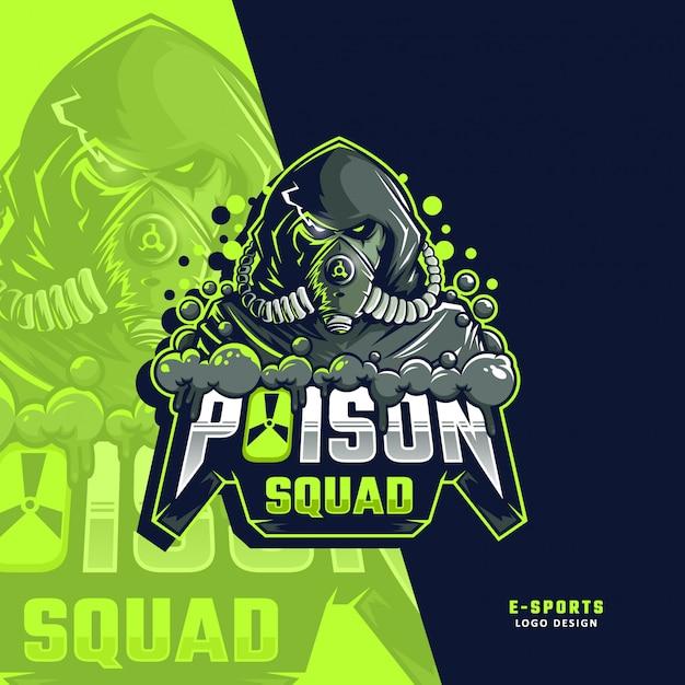 Logotipo do esporte de esquadrão de veneno