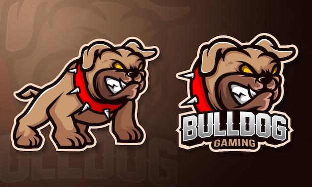 Logotipo do esporte de mascote de buldogue