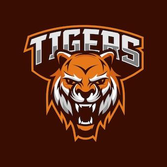 Logotipo do esporte de mascote de tigres
