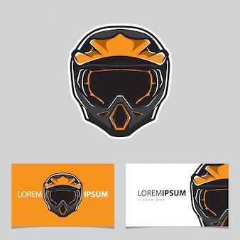 Logotipo do esporte de motocross