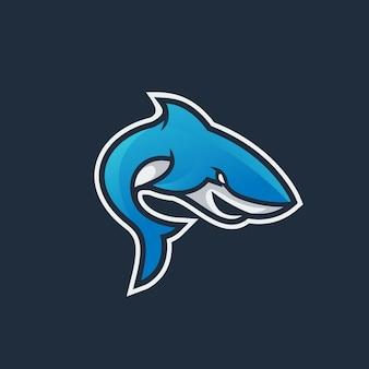 Logotipo do esporte de tubarão
