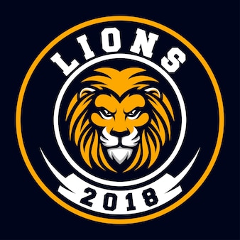 Logotipo do esporte do leão