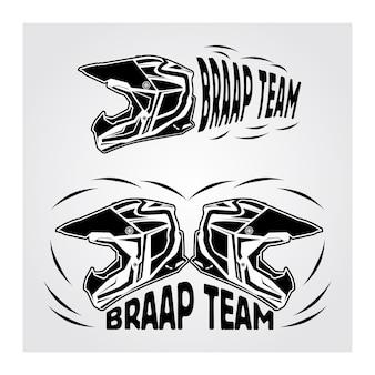 Logotipo do esporte do motocross
