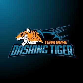 Logotipo do esporte do tigre e