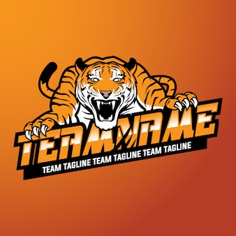 Logotipo do esporte do tigre
