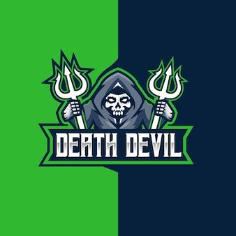 Logotipo do esporte e do diabo da morte